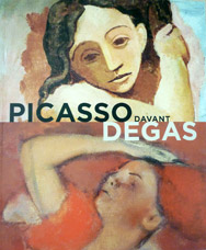cover of Picasso looks at Degas