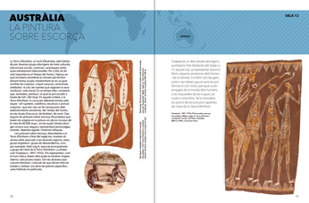Page of visitor's guide for the Museum of World Cultures